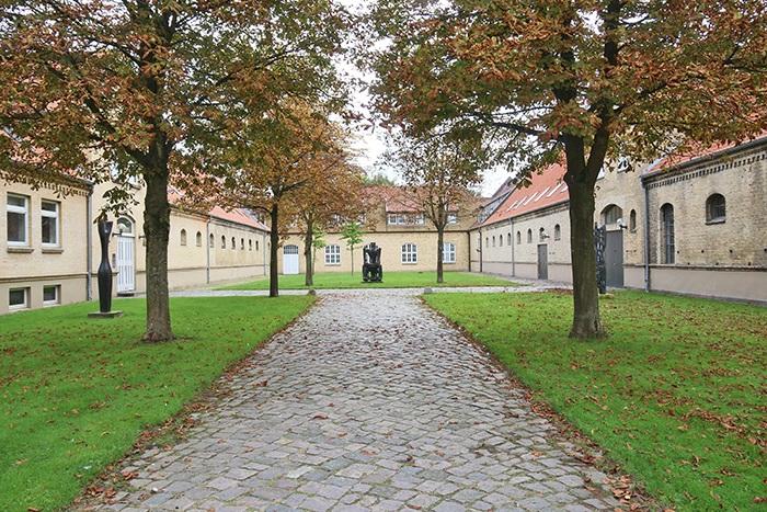 Die Gutsgebäude von Schloss Gottorf