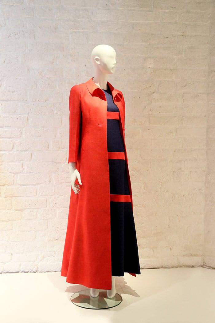 Givenchy Kleid und Mantel 1972