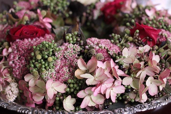 Herbstdekoration - Hortensienkranz