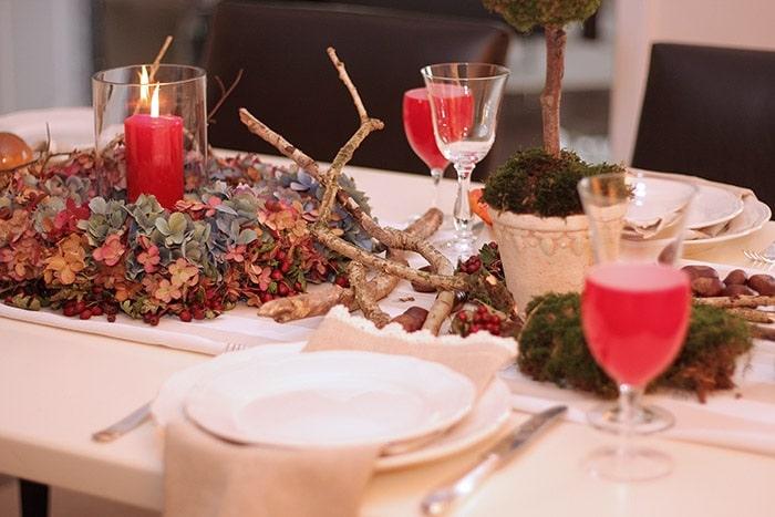Gedeckter Tisch - Herbstdekoration