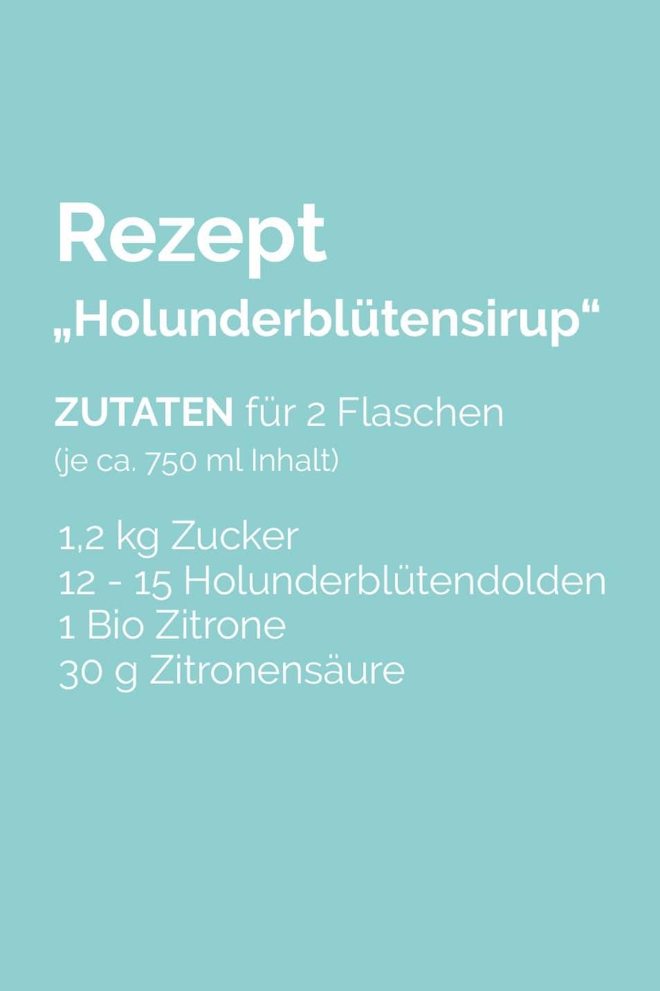 Rezept Holunderblütensirup Relana Dombetzki ALDO Magazin