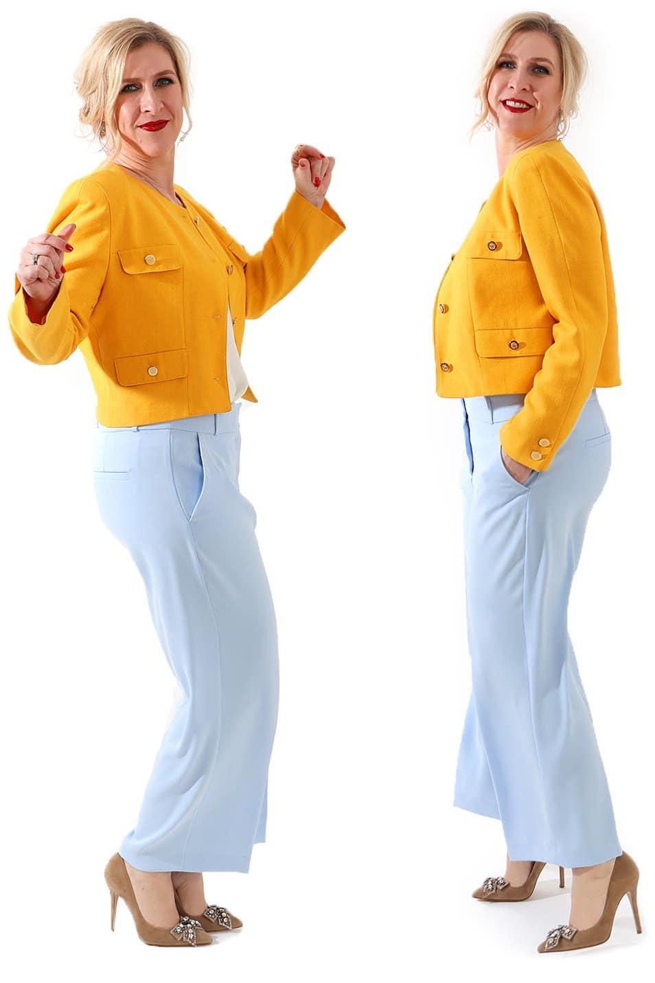 Yellow Blazer moderne Culotte Relana Dombetzki ALDO Magazin