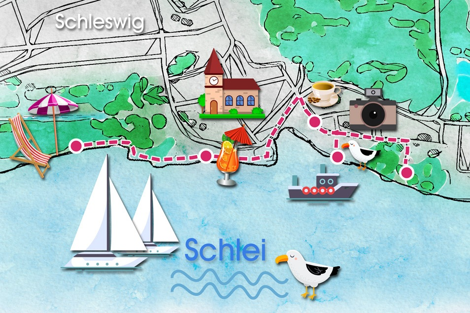 Stadtkarte Schleswig Relana Dombetzki ALDO Magazin