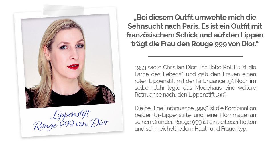 Outfit Inspiration weiße Bluse Dior rouge 999 relanastyle Relana Dombetzki ALDO Magazin